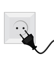 Plug and socket vector image
