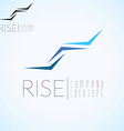 Abstract stairs Logo concept template for start up vector image