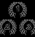 hand drawn laurel wreaths vector image