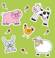 Farm animals background vector image vector image
