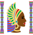 african woman profile vector image