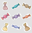 candy stickers vector image
