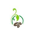 coffee abstract decorative logo vector image