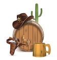 Cowboy Bar Concept vector image