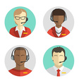 Icons set Male and female call center avatars in a vector image