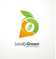 logo design for locally grown farm fresh products vector image