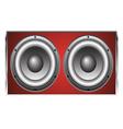 Loudspeaker Cabinet 2 vector image