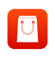 paper bag icon digital red vector image