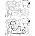 school maze vector image