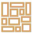 set collections of golden empty frames vector image
