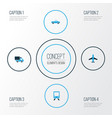transport colorful icons set collection of lorry vector image