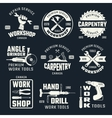 Work Tools Monochrome Emblems vector image
