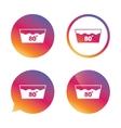 Wash icon Machine washable at 80 degrees symbol vector image