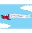Plane valentine vector image