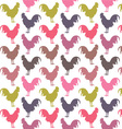 Colorful cock pattern vector image
