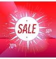 Sale poster with star on red background vector image vector image