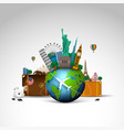 travel of the world background vector image