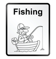 Fishing Information Sign vector image vector image