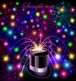 Background festive bright shiny hat and bright glo vector