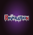 Revolution grafitti vector image