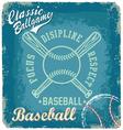 baseball classic ballgame vector image