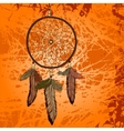 Bright vintage background with dream catcher vector image