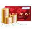 Credit Cards and Coins vector image