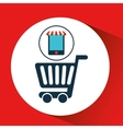 digital e-commerce cart shopping icon design vector image