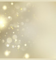 golden blurred bokeh background with stars eps 10 vector image