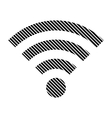 Wi-Fi sign on white vector image