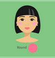 Woman face type round vector image