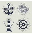 Set of retro nautical labels vector image