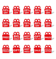 Sale Banners Shaped as Gift Box vector image vector image