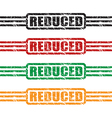 reduced stamp set vector image vector image