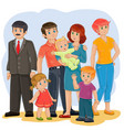 happy family - grandfather grandmother vector image