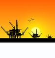 Oil derrick in sea vector image