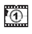 Film and cinema icon vector image