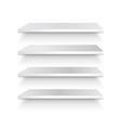 Empty white shelf vector image