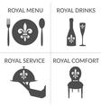 HoReCa business stylized symbols logotype set vector image vector image