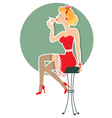 martini girl vector image vector image