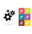 Gear icon or gear symbol vector image vector image