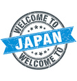 welcome to Japan blue round vintage stamp vector image