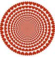 circular pattern of hearts vector image