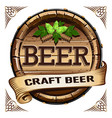 craft beer label vector image