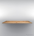 Empty wood shelf on wall vector image