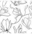 magnolia sakura flowers branch seamless pattern vector image