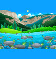 mountain landscape with lake vector image