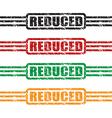reduced stamp set vector image