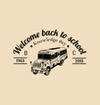 School bus logo vintage back to school vector image
