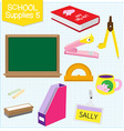 school supplies5 vector image